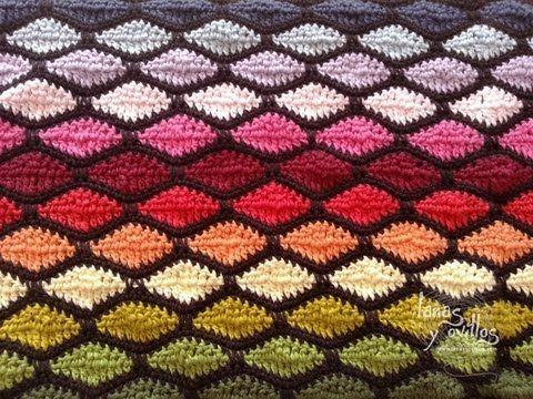 Tutorial Punto Ondas Crochet o Ganchillo Wave Stitch - YouTube