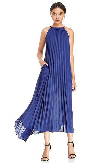Blue Pleated Dress - RP Dress