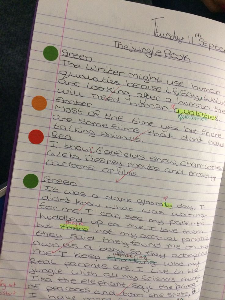 Pupils choose the task by the dots. This pupil choose the green differentiated task for her ability