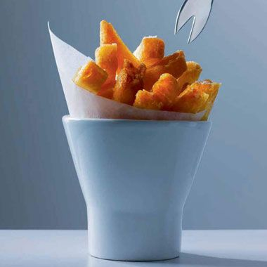 Find the recipe for Triple-Cooked Chips and other potato recipes at Epicurious.com