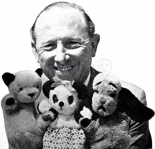 Sooty and Sweep with Harry Corbett. Went to see them live!