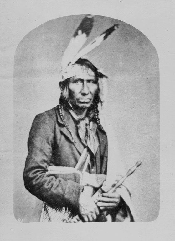 Ah Ah Shaw We Ke Shick (Crossing Sky) - Ojibwe 1869
