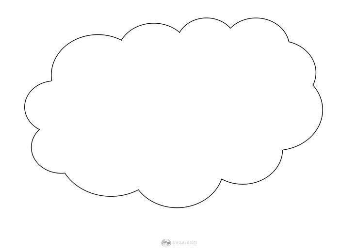 Znalezione obrazy dla zapytania chmura kolorowanka