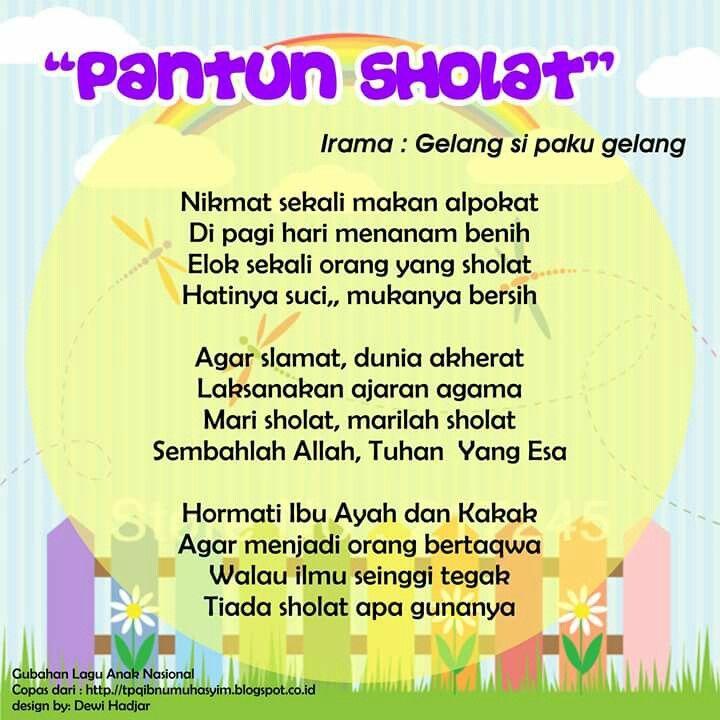 Pantun Sholat (original song Gelang si Paku Gelang)