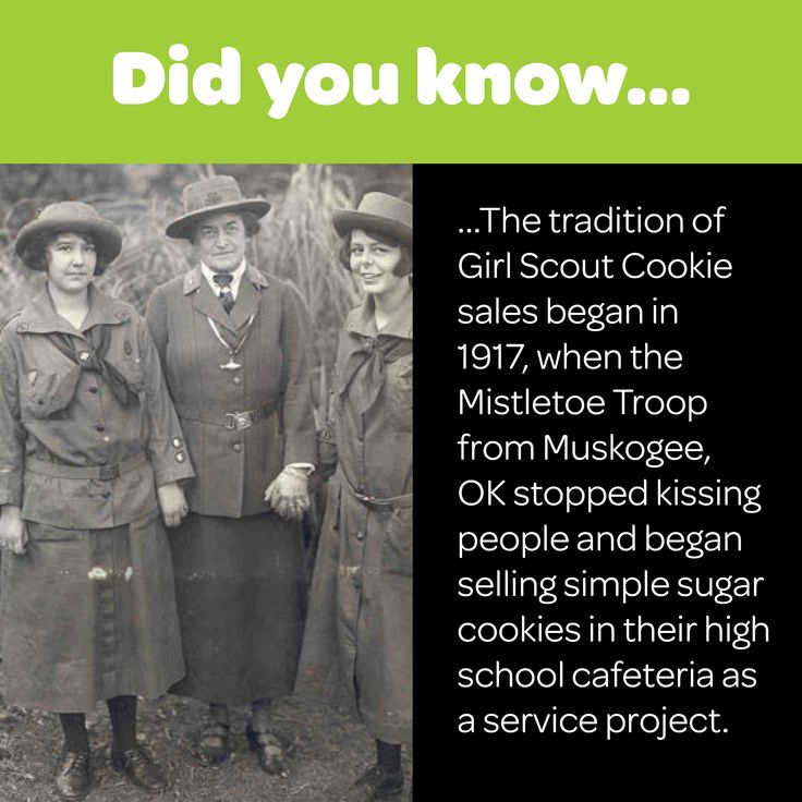 the tradition of girl scout cookie sales began in 1917