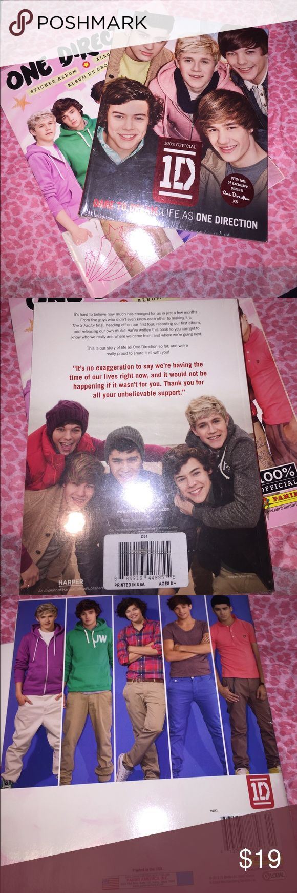One direction book bundle One direction sticker album plus One direction dare to dream biography book Other