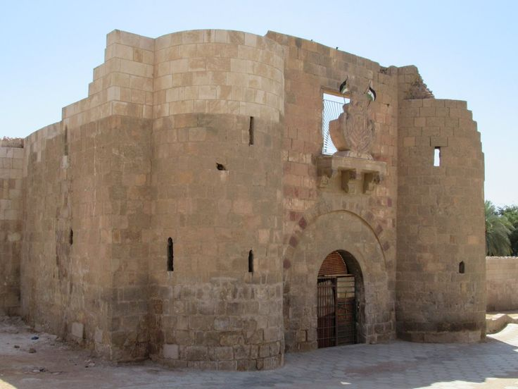 The early 16th century fort at Aqaba, Jordan, was damaged by British shelling during World War One.
