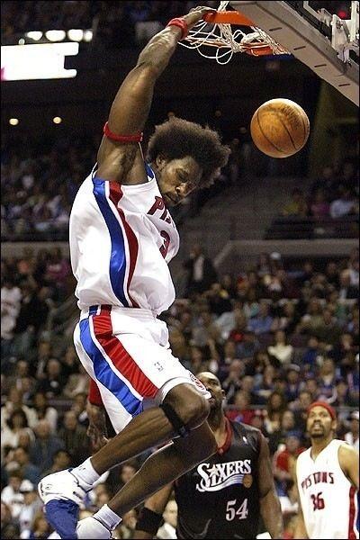 Ben Wallace Detroit Pistons Rasheed Wallace Rodney Rogers Philadelphia Sixers
