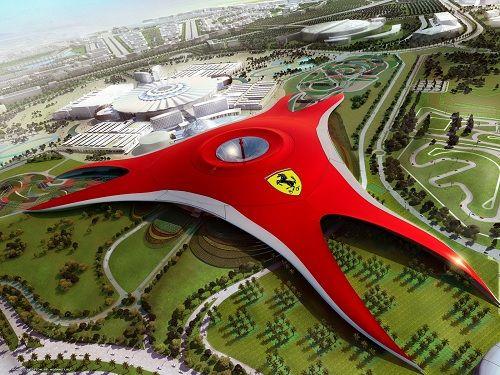 Креатив вархитектуре Придуманный и разработанный всемирно известным архитектурным бюро Benoy дизайн тематического парка Ferrari World был вдохновлен двойным изгибом бокового профиля Ferrari GT. Красную обтекаемую крышу развлекательного комплекса, выполненную в форме трех лепестков, украшает самый большой за всю историю бренда логотип Ferrari.   Источник: http://www.adme.ru/tvorchestvo-reklama/kreativ-v-arhitekture-231205/#image161405 © AdMe.ru