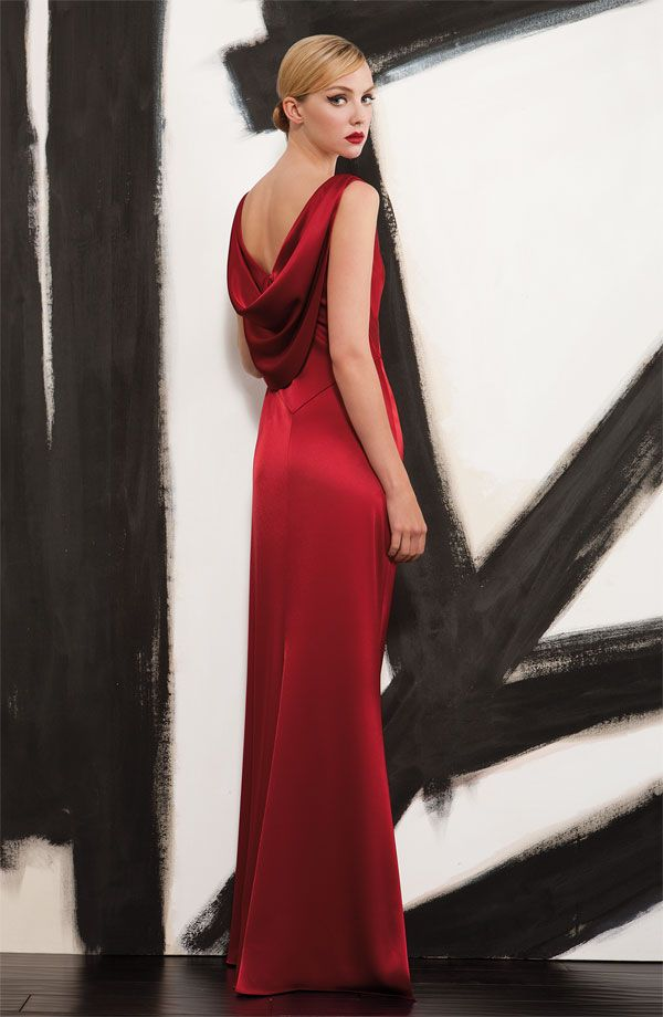 Black Tie Affair: St. John Collection Liquid Satin Gown #Nordstrom #Holiday #Designer