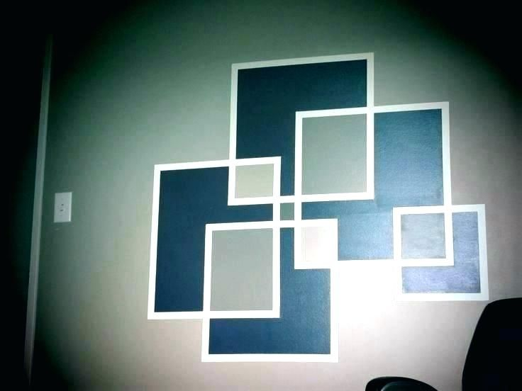 Wall Designs With Tape And Paint Wall Painting Design With Masking Tape Wall Paint Patterns Using Ta Diy Wall Painting Wall Paint Designs Painting Tape Designs