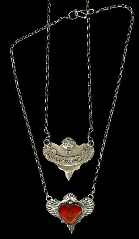 Beautiful wings!  necklace, silver  sweetbird