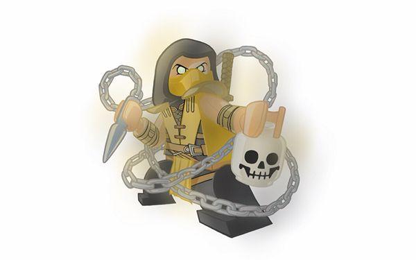 Lego Scorpion - Mortal Kombat - Robert Ekblom | Video Game ...  Lego Scorpion -...