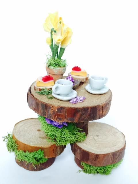 fairy table for two enchanted fairy furniture by TheBraceletHouse