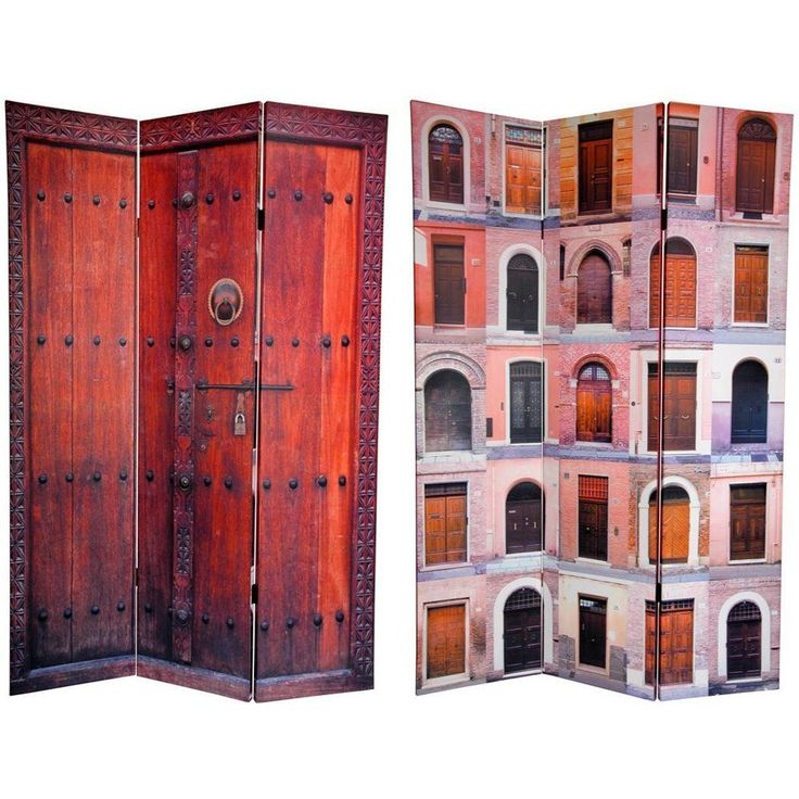 six ft tall double sided doors canvas room divider width 48 inches screens u0026 panels s