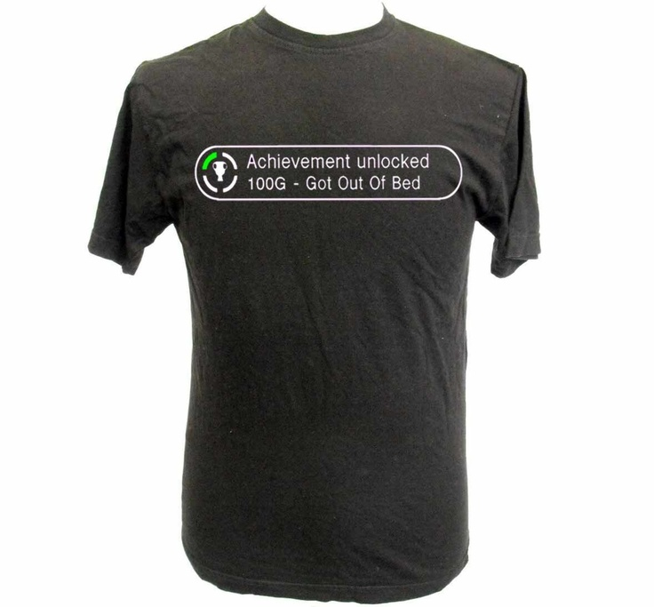 Xbox 360 Achievement 'Got Out Of Bed' T Shirt