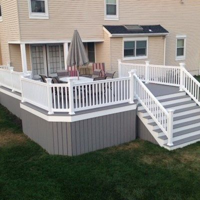 25 Best Ideas About Gray Deck On Pinterest Deck Benches