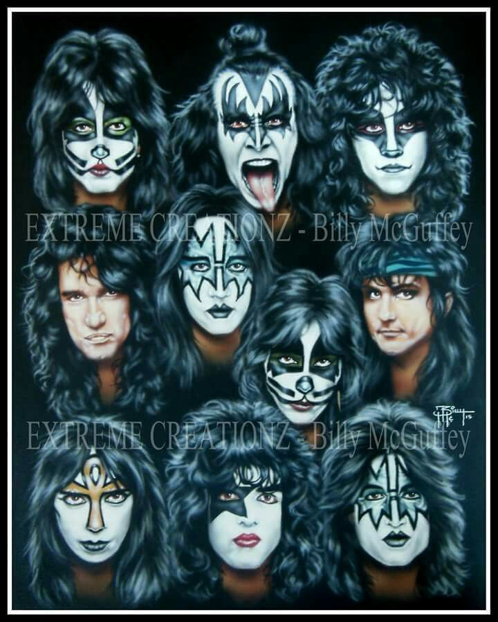 Kiss Band Faces: 587 Best Graphic KISS Images On Pinterest