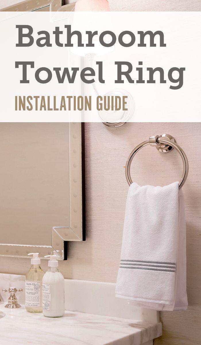 How To Install A Bathroom Towel Ring Towel Ring Bathroom Towel