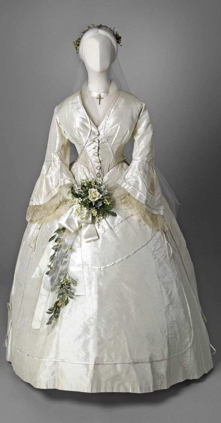 311 best images about 1860 39 s clothing civil war era on for Victorian era wedding dresses