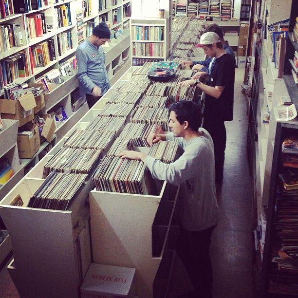 Record shopping with #fidlar in Sydney