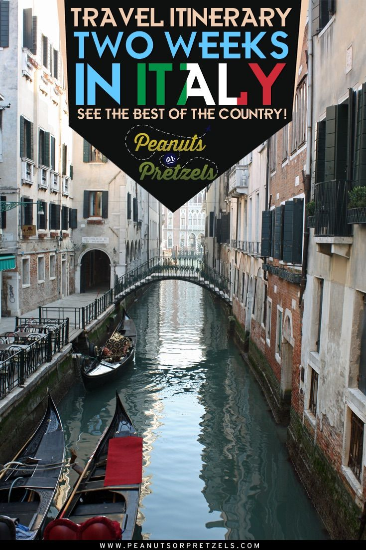 Italy is a top destination for travelers!  And with so much to see spread across the country, it's difficult coming up with a travel itinerary to see it all.  If you can spare 2 weeks in Italy (14-16 days), then this travel itinerary will highlight some of the top attractions and destinations in Italy.