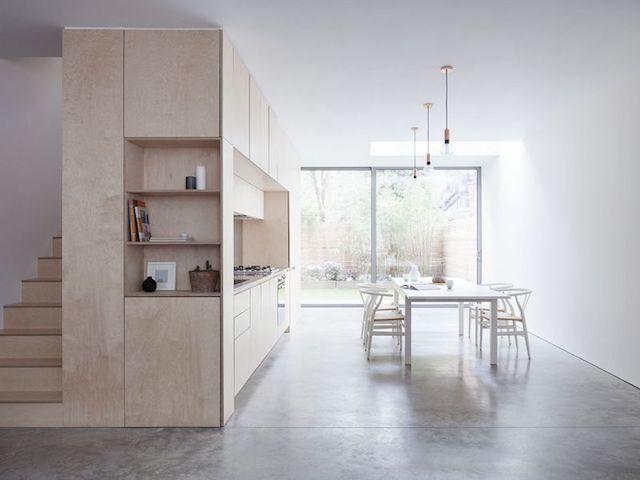 Home in plywood and concrete - via Coco Lapine Design