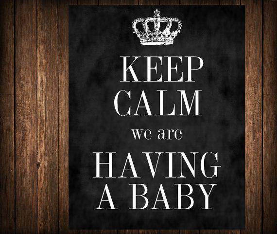 Keep Calm Keep Calm Pregnancy Annoucement by Southernskiesdesigns, $9.00
