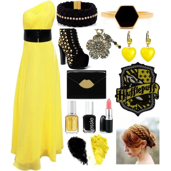 Hufflepuff Yule Ball By Flailingfangirl On Polyvore Harry Potter Pinterest