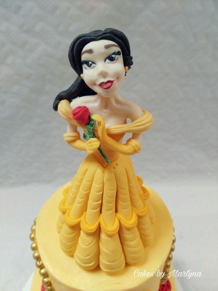 Belle cake topper
