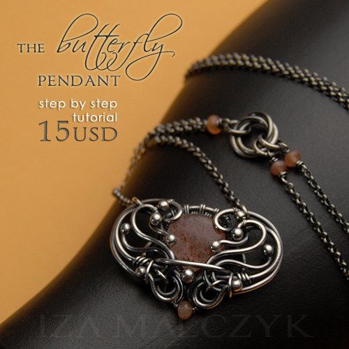 Butterfly Pendant Step By Step Tutorial by Iza Malczyk - on Etsy $15.00