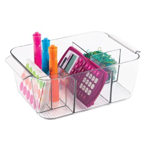 8 Compartments Office Supplies Desk Cabinet Organizer Bin