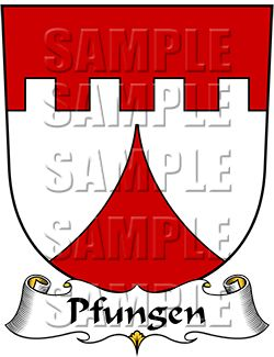 Pfungen Family Crest apparel, Pfungen Coat of Arms gifts