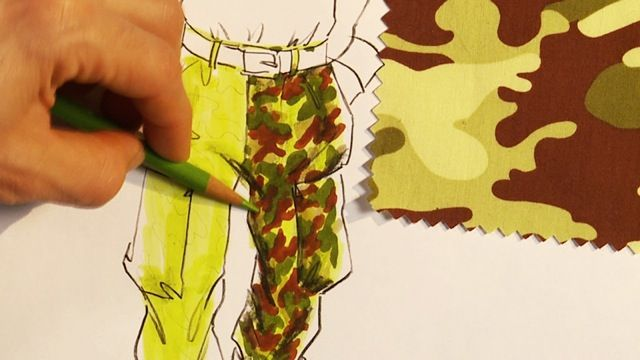 Rendering Camouflage  http://www.universityoffashion.com/lessons/rendering-camouflage/