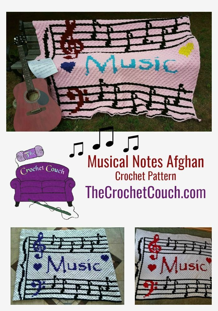 Musical Notes Afghan C2c Crochet Pattern Afghan Patterns