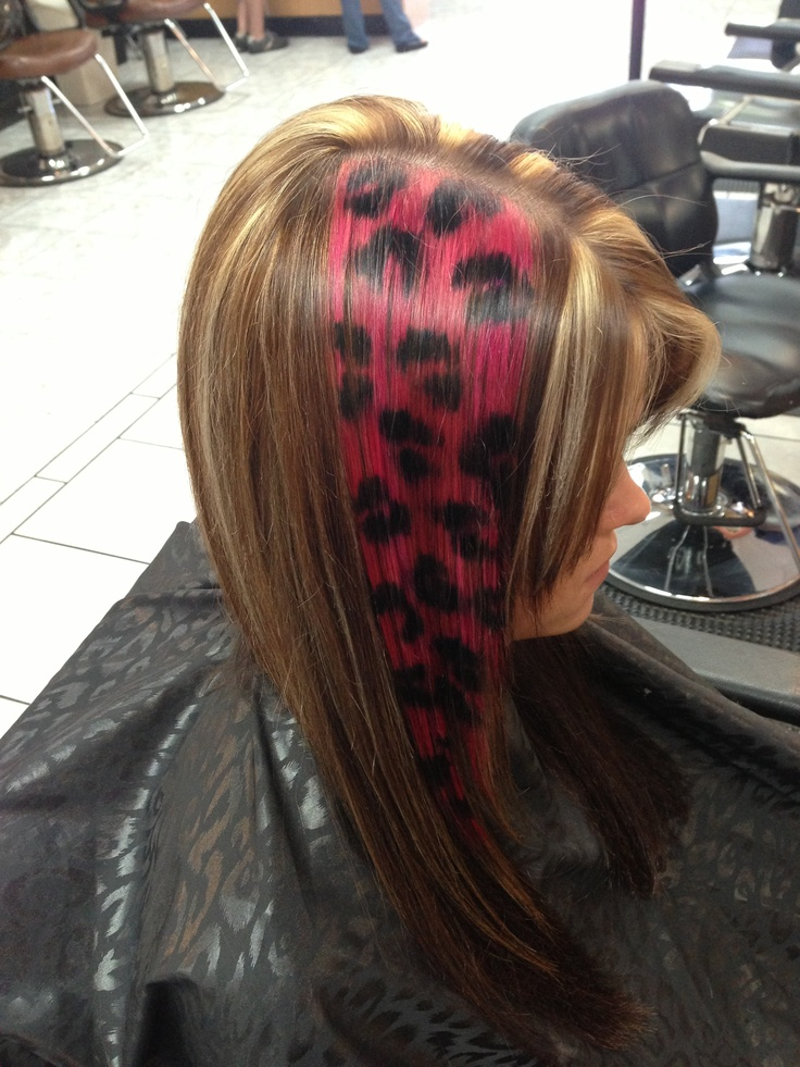 Hair And Make Up Artistry By Amber: Hot Pink And Black Cheetah Print Hair Facebook.com