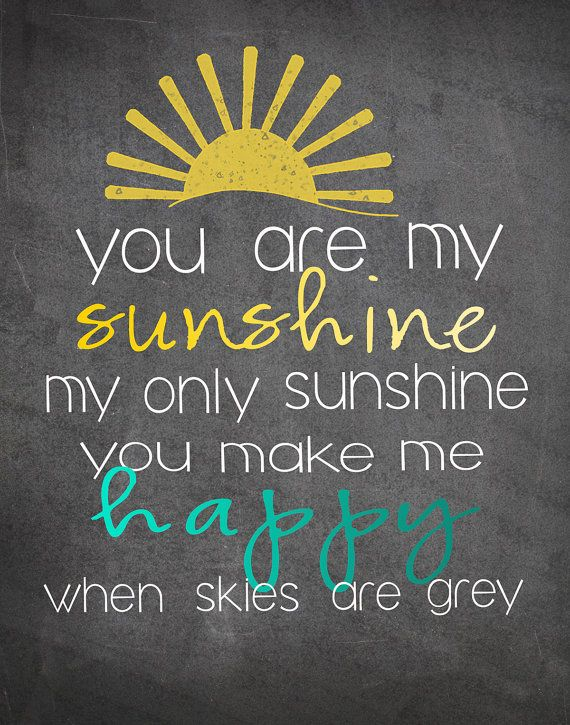 You are my sunshine canvas by DesertPeachDesign on Etsy, $45.00