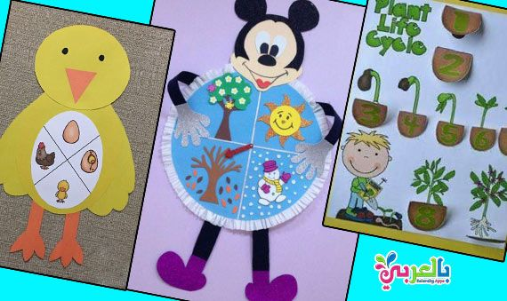 وسائل تعليمية للعلوم لرياض الاطفال من خامات البيئة School Art Activities Preschool Activities Sewing Projects For Kids