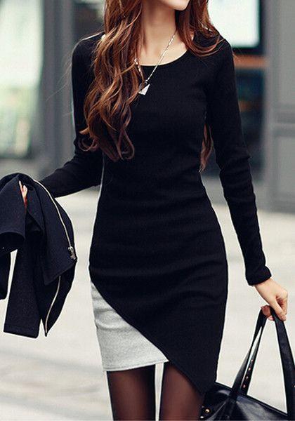 Colorblocked Body-Con Dress