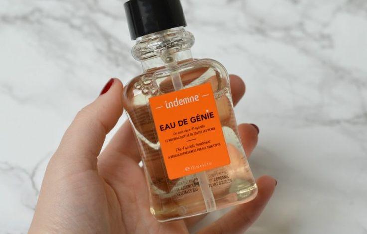 Indemne Eau de Genie, een verfrissende toner die ook is geschikt voor de gevoelige huid met eczeem en acne. Dierproefvrij, natuurlijk en vegan, verkrijgbaar bij Solobiomooi!