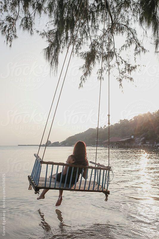 swing over ocean