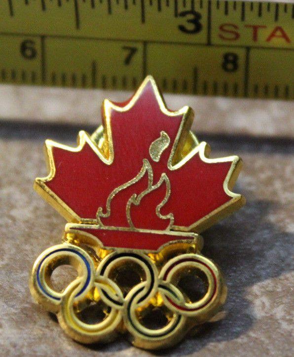 2016 Rio De Janeiro Torch Summer Olympics Team Canada Collectible Pin