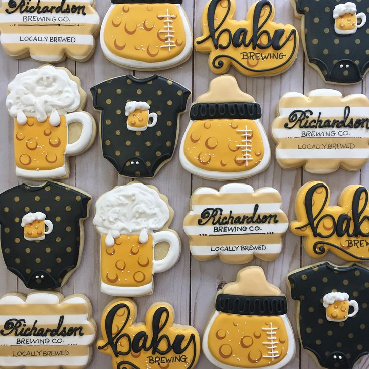Baby is Brewing Baby Shower Sugar Cookies by ...