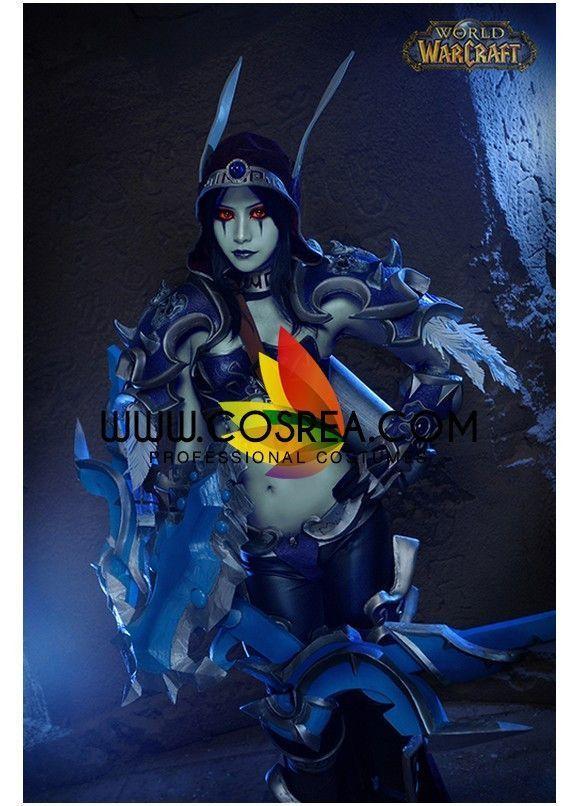 World of Wacraft Warrior Sylvanas Figurine Version Cosplay Costume