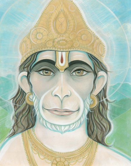 Believed to be an avatar of Lord Shiva, HANUMAN is worshiped as a symbol of physical strength, perseverance and devotion. Hanuman's tale in the epic Ramayana - where he is assigned the responsibility to locate Rama's wife Sita abducted by Ravana, the demon king of Lanka — is known for its astounding ability to inspire and equip a reader with all the ingredients needed to face ordeals and conquer obstructions in the way of the world.