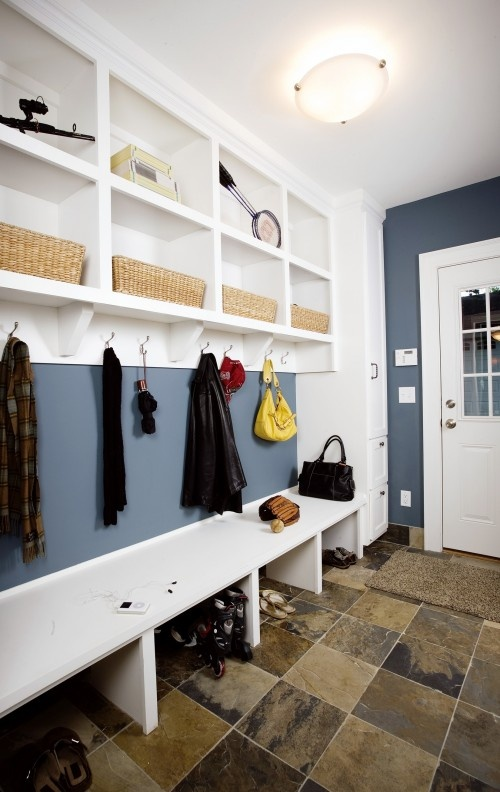 cubbies and slate floor...like the wall color tooDecor, Wall Colors, Mudroom Design, Mud Rooms, Laundry Rooms, Laundry Mudroom Spaces, Painting Colors, House, Mudroom Ideas