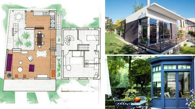 76 best modele maison images on pinterest arquitetura for Agrandissement maison 53