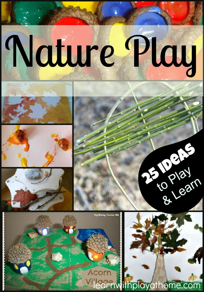 Nature Play and Learn. Activities and Ideas on using materials from Nature. learnwithplayathome.com