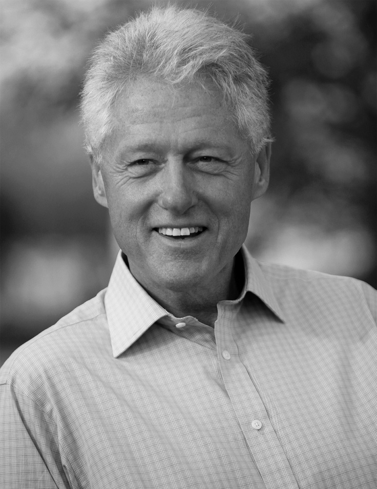What a smile! President Clinton.   #smile #celebrity