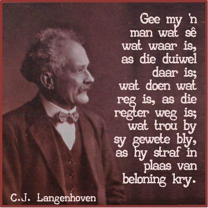 Buiten Die Stem, is daar soveel ander juwele wat C.J. Langenhoven ook nog geskryf het.